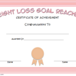 Weight Loss Certificate Template 6