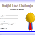Weight Loss Certificate Template 7