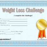 Weight Loss Certificate Template 8