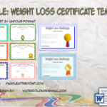 Weight Loss Certificate Template By Paddle
