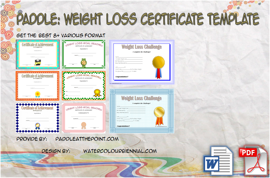 The 8 Latest Design Ideas From Weight Loss Certificate Template