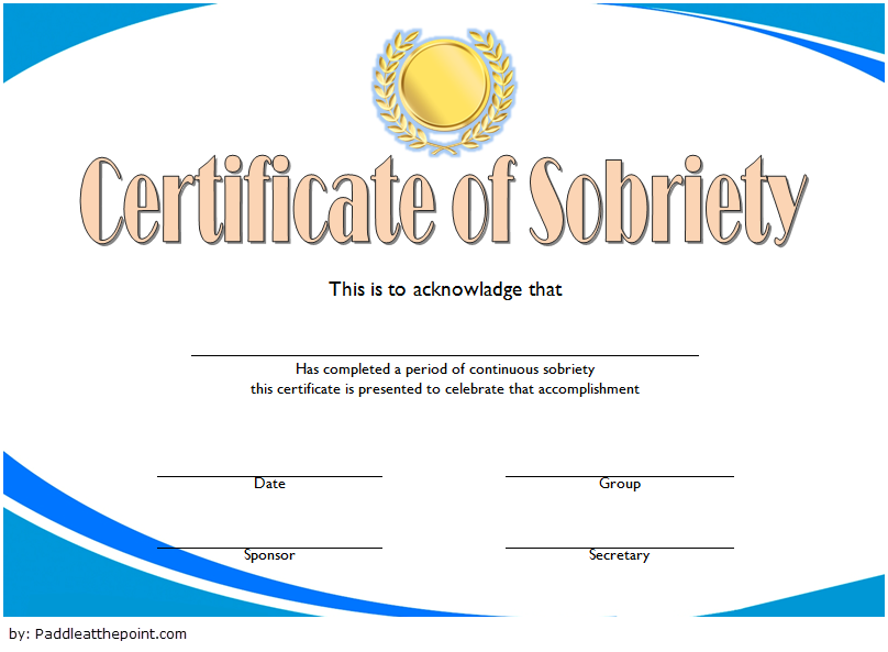Certificate Of Sobriety Template 10