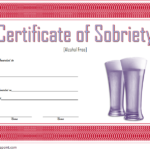 Certificate Of Sobriety Template 5