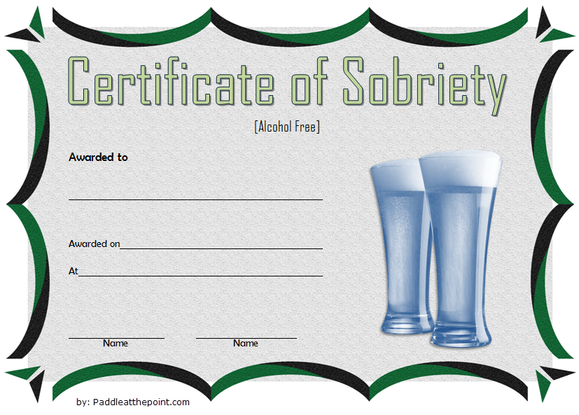 Certificate Of Sobriety Template 6