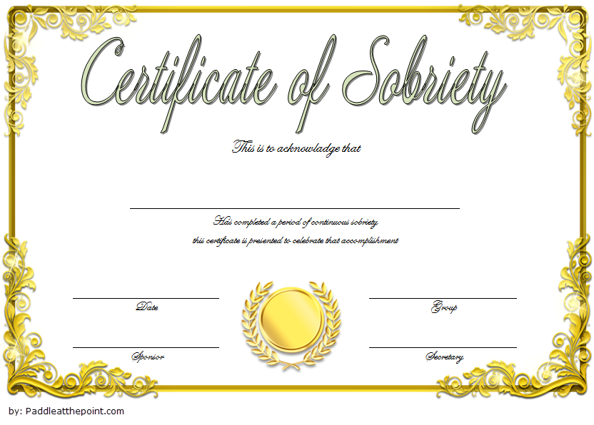 Certificate Of Sobriety Template 8