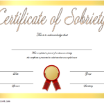 Certificate of Sobriety Template Free – 10+ Newest Designs
