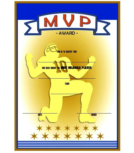 MVP Certificate Template 4