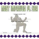 Most Improved Player Certificate Template 5