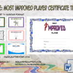 Most Improved Player Certificate Template By Paddle