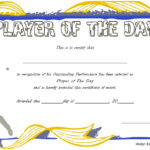 Player of The Day Certificate Template: 6+ Cool Designs FREE