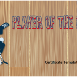 Player Of The Day Certificate By Paddle