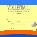 Volleyball Tournament Certificate Template 2