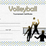 Volleyball Tournament Certificate Template 5