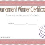 Volleyball Tournament Certificate Template 7