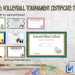 Volleyball Tournament Certificate Template By Paddle