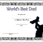 Best Dad Certificate Template 1