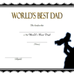 Best Dad Certificate Template 10