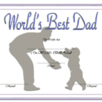 Best Dad Certificate Template 2