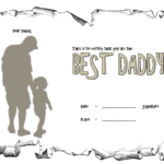 Best Dad Certificate Template 3