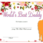 Best Dad Certificate Template 5