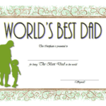Best Dad Certificate Template 6