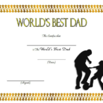 Best Dad Certificate Template 8