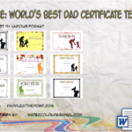 Best Dad Certificate Template Ideas By Paddle