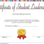 Excellence Student Leadership Certificate Template 3