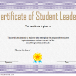 Great Student Leadership Certificate Template 2