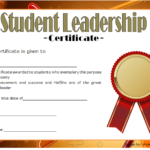 Great Student Leadership Certificate Template 5