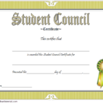 Student Council Certificate Template 6