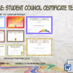 Student Council Certificate Template By Paddle