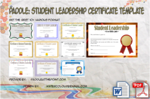 Outstanding Student Leadership Certificate Template FREE