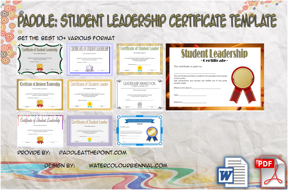 Student Leadership Certificate Template By Paddle