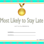 FREE Most Likely To Certificate Template 1