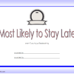 FREE Most Likely To Certificate Template 2