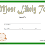 FREE Most Likely To Certificate Template 7