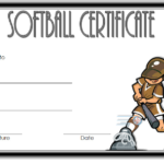 Printable Softball Certificate 1