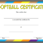 Printable Softball Certificate 2