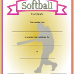 Printable Softball Certificate 3