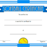 Printable Softball Certificate 4