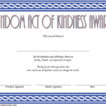 Certificate of Kindness Template: 7+ Editable Designs FREE