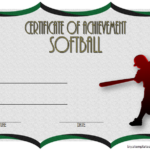 Softball Achievement Certificate Template 2