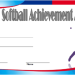Softball Award Certificate Template 1