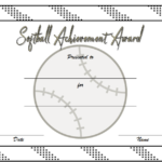 Softball Award Certificate Template 2