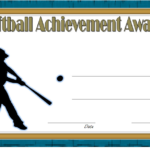Softball Award Certificate Template 3