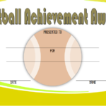 Softball Award Certificate Template 4