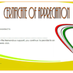 Table Tennis Appreciation Certificate Template 2