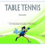 Table Tennis Certificate Template FREE – 10+ Cool Designs