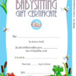 Babysitting Gift Certificate Template 2 FREE